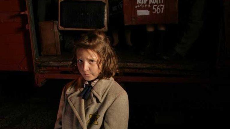 Hana Brady arriving at Auschwitz on October1944 a