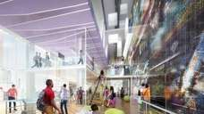 A rendering of the interior of NYU's planned