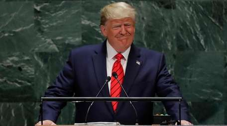 President Donald Trump addresses the UN General Assembly