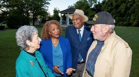 Marge Rogatz, from left, Bernice Sims, the Rev.