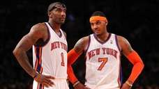 Amare Stoudemire #1 , and Carmelo Anthony #7