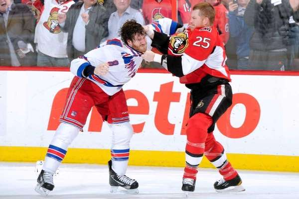 Chris Neil #25 of the Ottawa Senators and