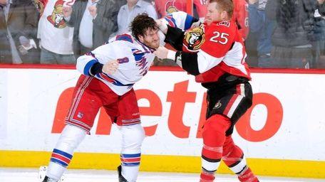Chris Neil #25 of the Ottawa Senators and