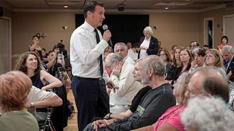 Rep. Tom Suozzi during a Town Hall meeting