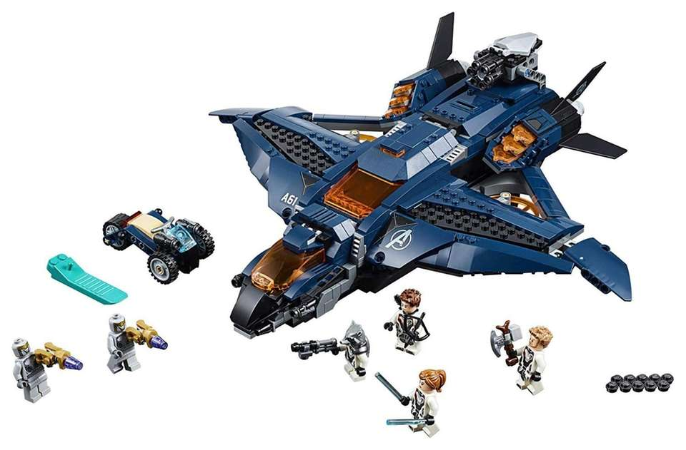 Kids can build their own Avengers Quinjet with
