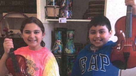 Kidsday reporters Madison Saladino and David Salam with