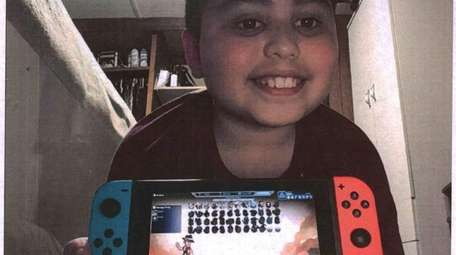Kidsday reporter David Salam with his Nintendo Switch.