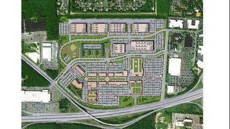 The proposed plan for Serota Properties Islip Pines