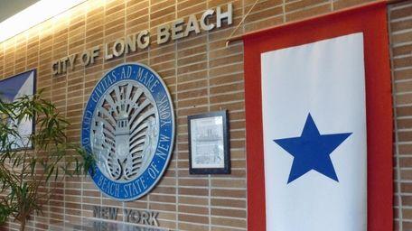 The lobby of the Long Beach City Hall