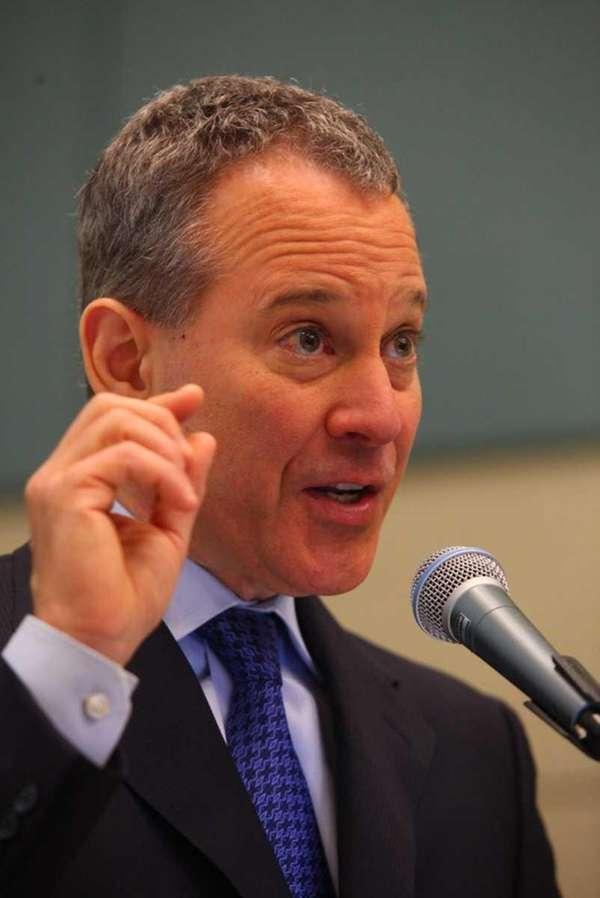 New York State Attorney General Eric Schneiderman speaking
