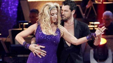 Kirstie Alley and her partner Maksim Chmerkovskiy compete