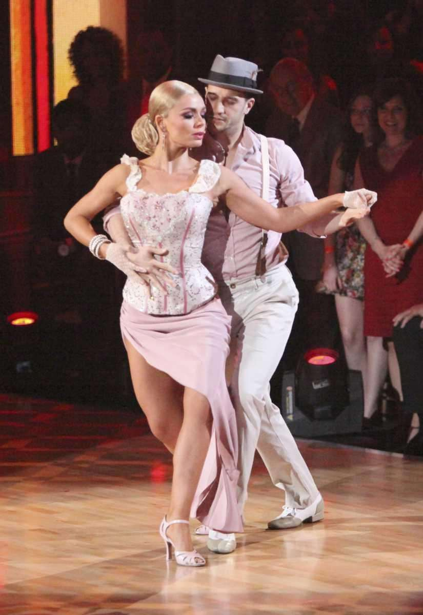 Singer Katherine Jenkins performs with partner Mark Ballas