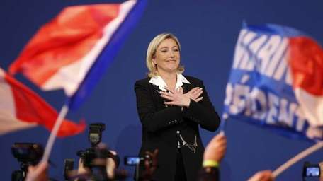 French far right party Front National candidate Marine