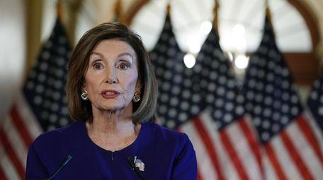 House Speaker Nancy Pelosi on Tuesday announces a