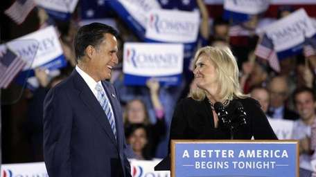 Republican presidential candidate Mitt Romney and his wife,