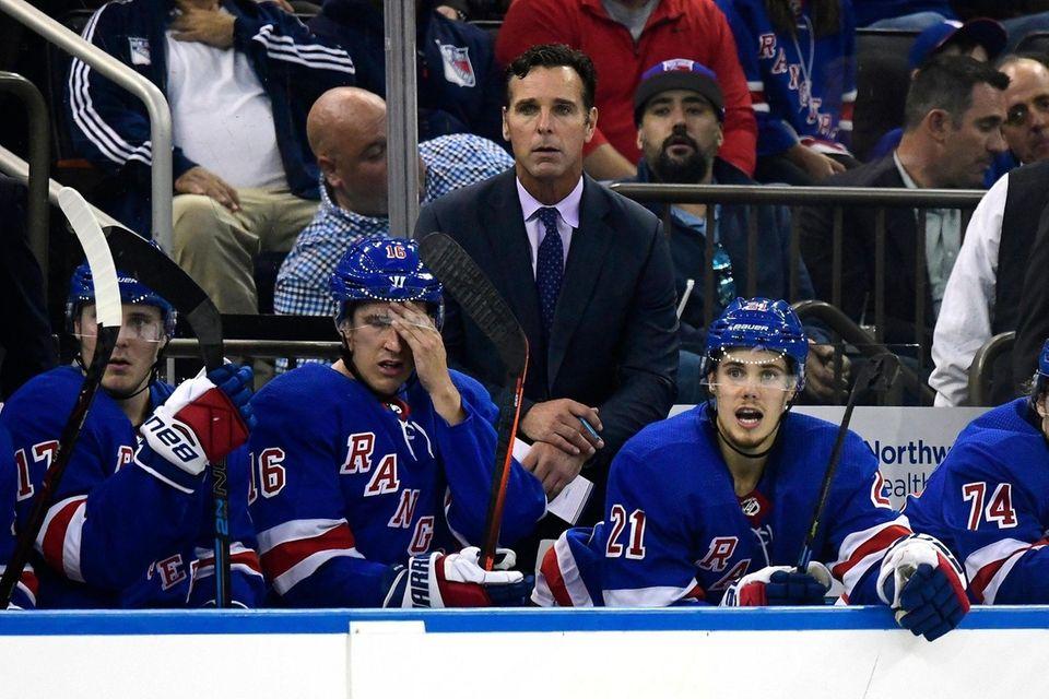 Head coach David Quinn of the New York