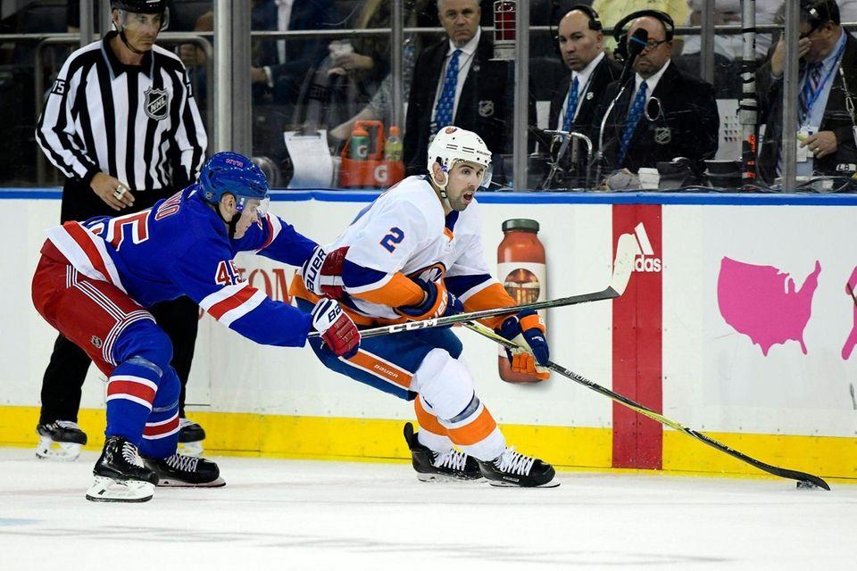 Nick Leddy #2 of the New York Islanders