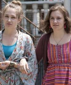 Jemima Kirke, left, and Lena Dunham costar in