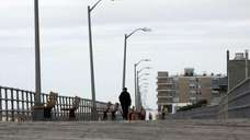 The Atlantic Beach boardwalk is as mellow as