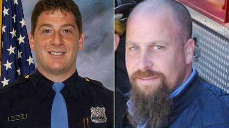 Left, Highway Patrolman Michael J. Califano died Feb.