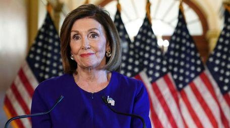 House Speaker Nancy Pelosi (D-CA) speaks to the