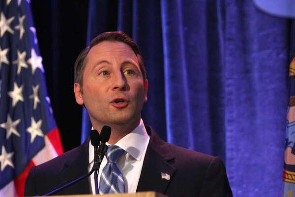 Westchester County Executive Rob Astorino addresses county officials