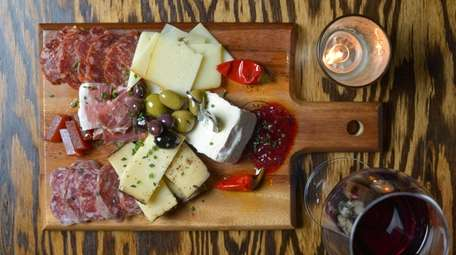 A charcuterie board at Tullulah's in Bay Shore.