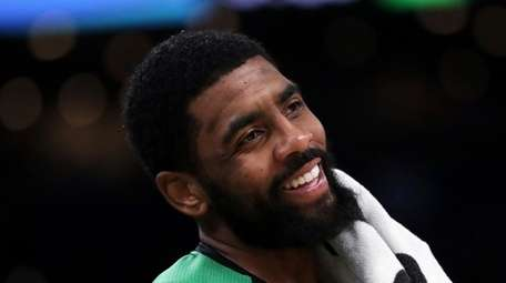 Nets point guard Kyrie Irving suffered a facial