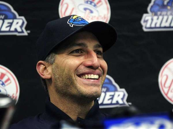 New York Yankees pitcher Andy Pettitte smiles as