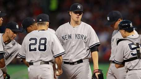 Phil Hughes #65 of the New York Yankees