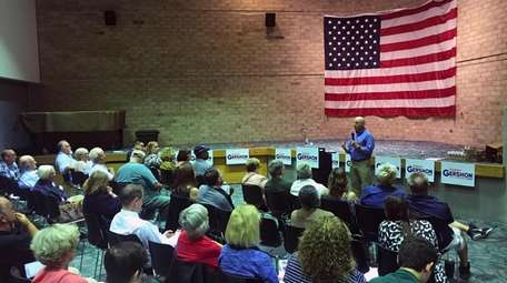 Perry Gershon town hall at the Mastics-Moriches-Shirley Community