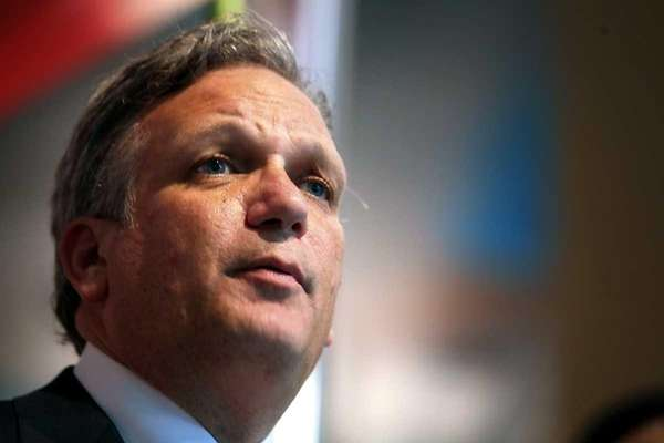 Nassau County Executive Edward Mangano speaks at the