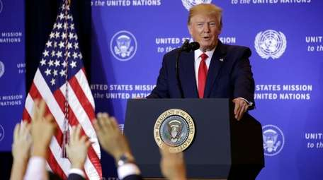 President Donald Trump at a news conference Wednesday