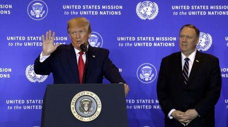 President Donald J. Trump speaks during a press