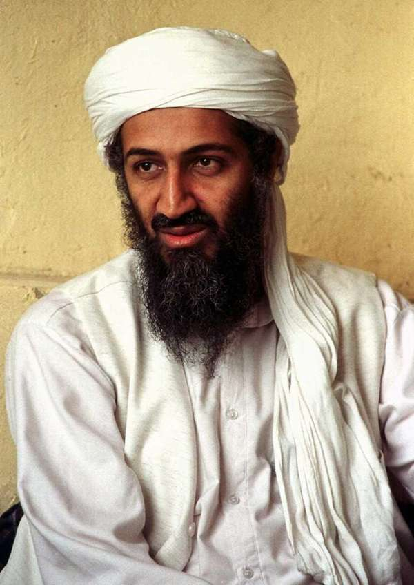 This April 1998 file photo shows exiled al-Qaida
