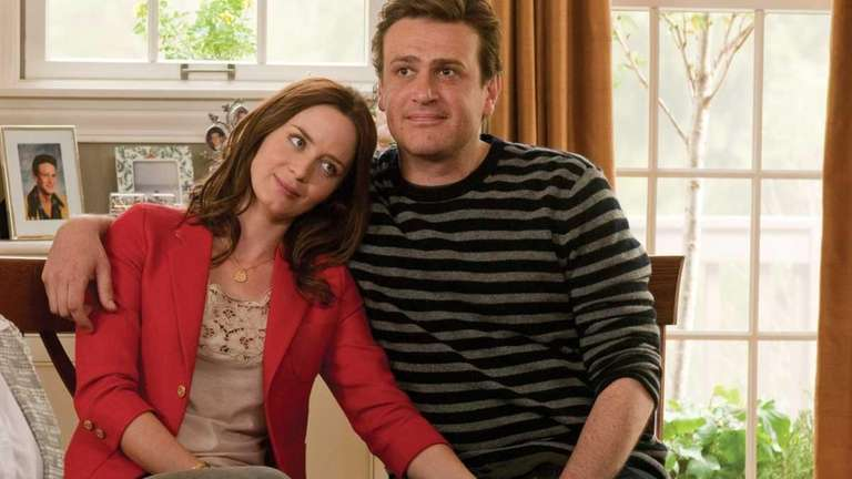 Emily Blunt and Jason Segel keep getting tripped