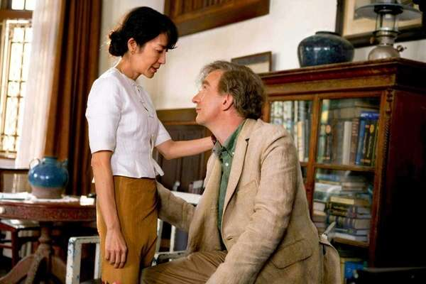 Michelle Yeoh and David Thewlis in The Lady