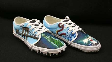 Students at Sachem High School East designed shoes