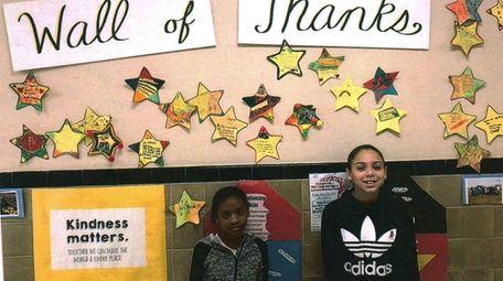 Kidsday reporters Aaliyah Davis, left, and Giana Torres