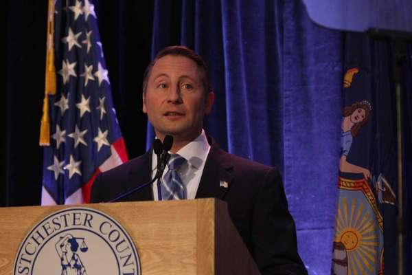Westchester County Executor Rob Astorino delivers the State
