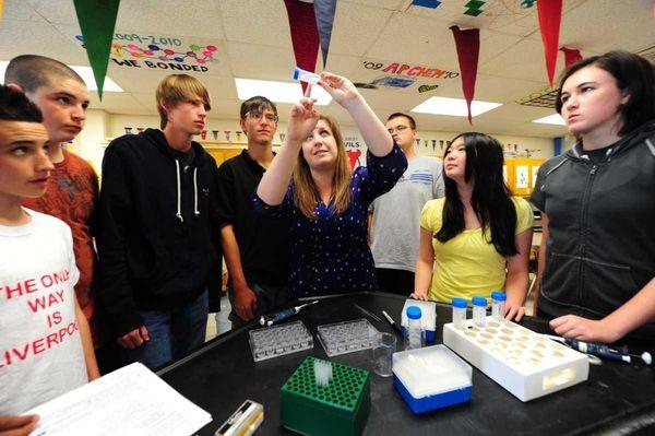 Babylon Junior/Senior High School research science teacher Claire