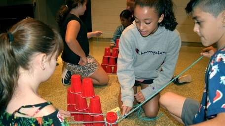 In Greenlawn, seventh-graders at Oldfield Middle School worked