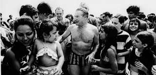 Gov. Nelson A. Rockefeller during an election-year visit