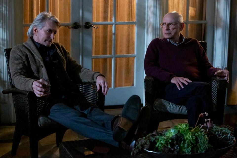 Friends Norman Sandy (Michael Douglas), left, and Norman