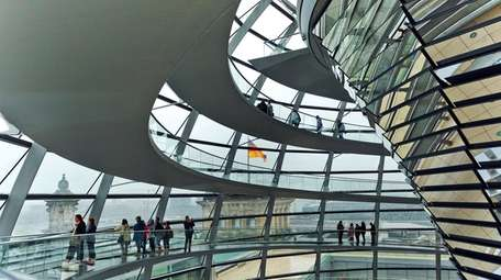 At the Reichstag in Berlin, visitors are treated