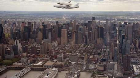 In this photo provided by NASA, Space shuttle