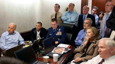 President Barack Obama, second from left, Vice President