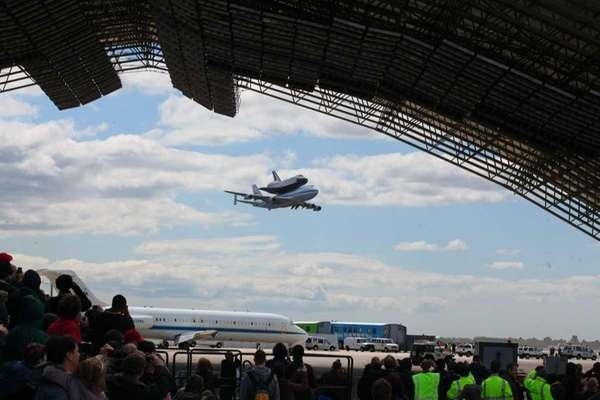 NASA Space Shuttle Enterprise arrives at John F.