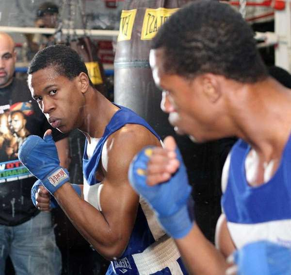 Freeport's Patrick Day gets ready by shadow boxing