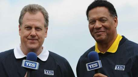 YES Network broadcasters Michael Kay and Ken Singleton.